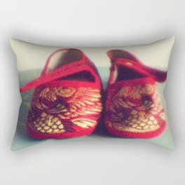 Two red shoes Rectangular Pillow