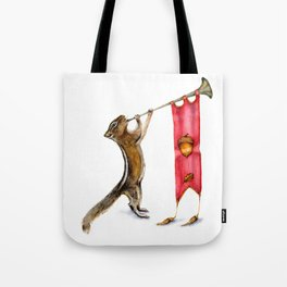 Herald Chipmunk Tote Bag
