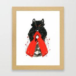 Who's Afraid of the Big Bad Wolf? Framed Art Print