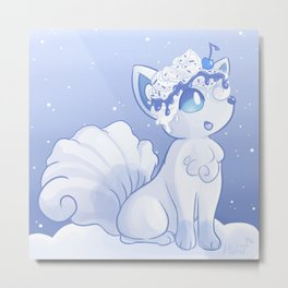Snow Fox Metal Print