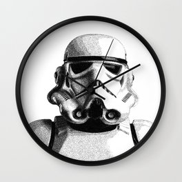 Stormtrooper Dotwork - Pointillism Fan Artwork Wall Clock