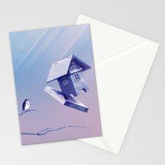 Freezing Bird...house Stationery Cards
