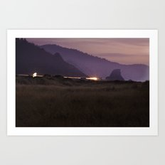 Landscape Fine Art Print - Purple, Orange, Blue Black - Night Photograph -