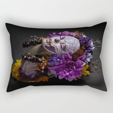 Violet Harvest Muertita Rectangular Pillow