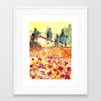 poppies Framed Art Prints featuring Poppies by Michele Petri