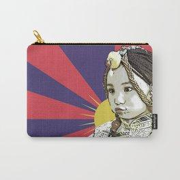 A little Tibetan girl Carry-All Pouch