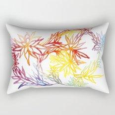Flower Burst Color High Rectangular Pillow