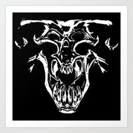 Tyrant Viking Skull Art Print