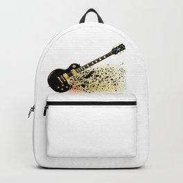Shattering Blues Guitar Backpack