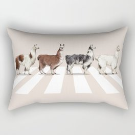 Llama The Abbey Road #2 Rectangular Pillow