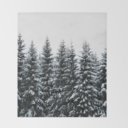 The White Bunch Throw Blanket