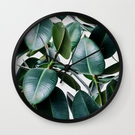 Tropical Elastica Wall Clock