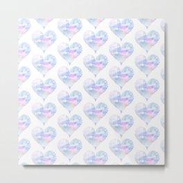 Watercolored hearts Metal Print