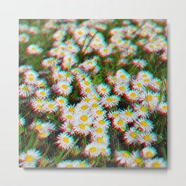Digital Daisies Metal Print