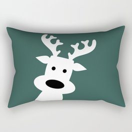 Reindeer on green background Rectangular Pillow