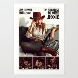 Una Fuorilegge di nome Jessie Art Print