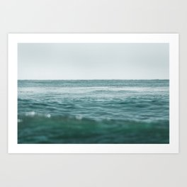 California Pacific Ocean Waves Art Print