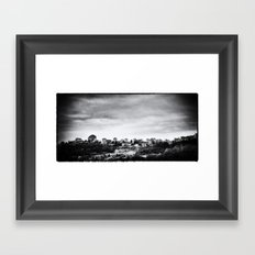 Up the Hills, Past the Cities Framed Art Print