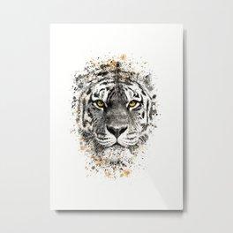 Tiger with yellow eyes Metal Print