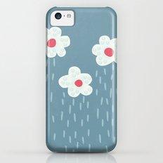Rainy Flowery Clouds Slim Case iPhone 5c