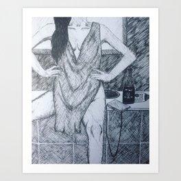 """Long night?"" Art Print"