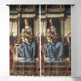 Andrea del Verrocchio - Madonna with Sts John the Baptist and Donatus Blackout Curtain