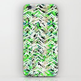 chalky skin light with green iPhone Skin