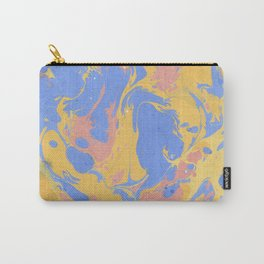 Yellow & blue paint Carry-All Pouch