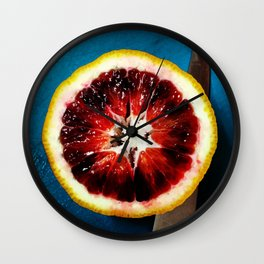 Blood Orange Wall Clock