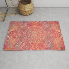 """""""Coral & Rosewood Mandala (pattern)"""" Rug"""