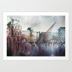 Le Louvre - Paris - Watercolor Art Print