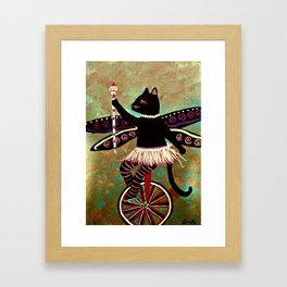 Circus Kitty's Purrfect Performance  Framed Art Print