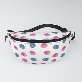 PomPom in Watercolor Pattern design by #Mahsawatercolor Fanny Pack