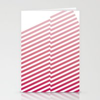 bands Stationery Cards featuring Red Bands by blacknote