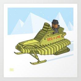 frozen yellow Art Print