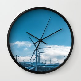 The Wind Farm (Color) Wall Clock