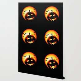 Smile Of Scary Pumpkin Wallpaper
