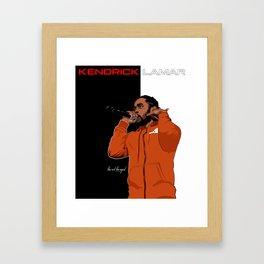 "Kendrick Lamar "" Cornrow Kenny"" Framed Art Print"