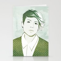 tegan and sara Stationery Cards featuring Tegan by GirlApe