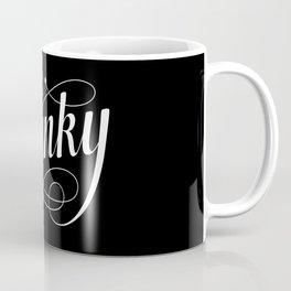Swanky in Black Coffee Mug