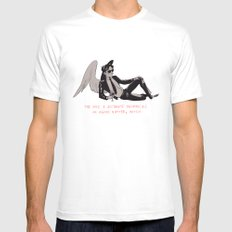 Sauntered Vaguely Downwards MEDIUM Mens Fitted Tee White