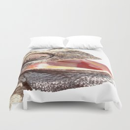 Chameleon with Happy Smiling Expression Vector Duvet Cover