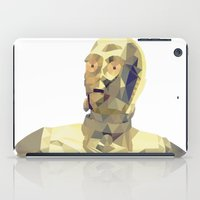 c3po iPad Cases featuring C3po Poly Art by Cesar Carlevarino