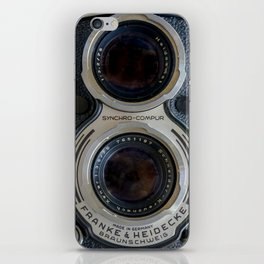 Close Up of Vintage Film Camera iPhone Skin