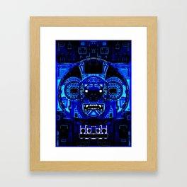 Chuen Blue Monkey Framed Art Print