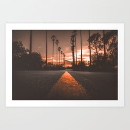 Road at Sunset Art Print