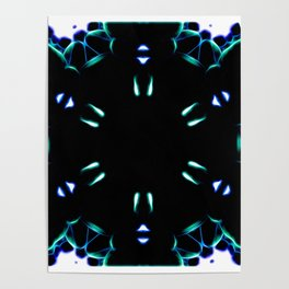 Carvial Ride At Midnight Abstract Poster