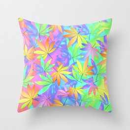 Take A Little Trip With Weed Throw Pillow