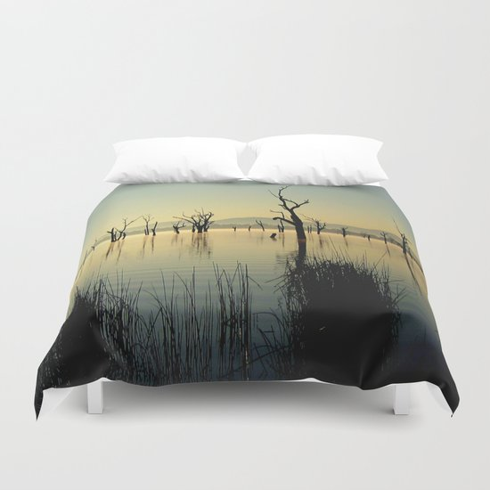 The Keepers of the Lake Duvet Cover