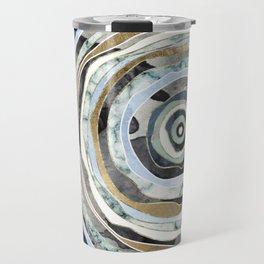 Wood Slice Abstract Travel Mug